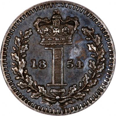 Reverse of 1854 Maundy Penny