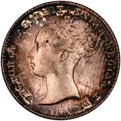 Obverse of 1855 British Guiana Fourpence
