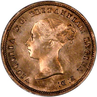 Obverse of 1855 Maundy Four Pence