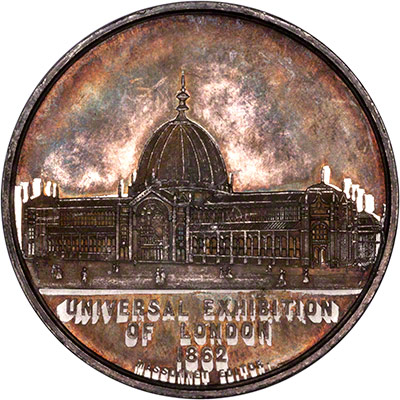 Reverse of Victoria Coronation Medallion 1838
