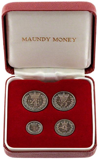 1865 Maundy Set in Presentation Box