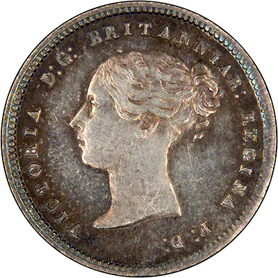 Obverse of 1867 Maundy Fourpence