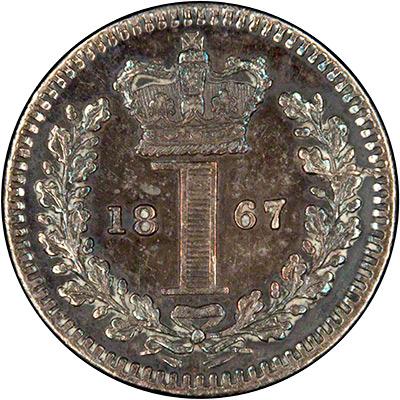 Reverse of 1867 Maundy Penny