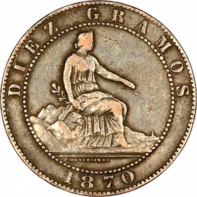 Alfonso XIII on Obverse of 1894 Spanish 5 Pesetas