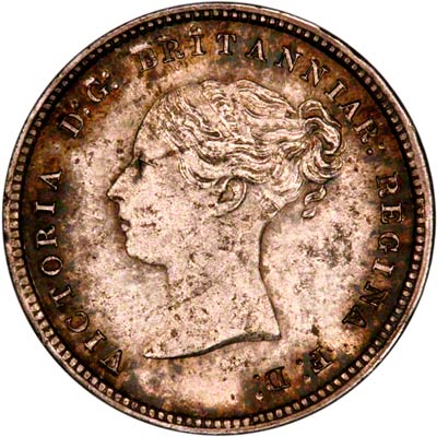 Obverse of 1871 Maundy Fourpence