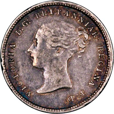Obverse of 1872 Maundy Fourpence