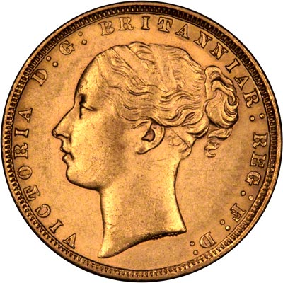 1872 Sovereign - Right Way Up