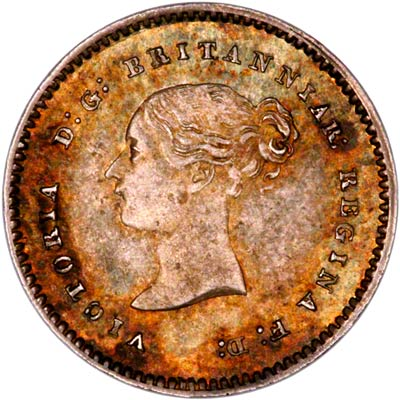 Obverse of 1878 Maundy Twopence