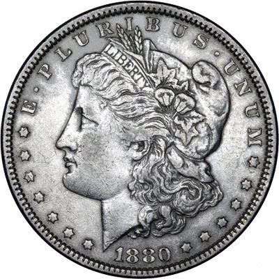 1880 American Silver Dollars Morgan Type
