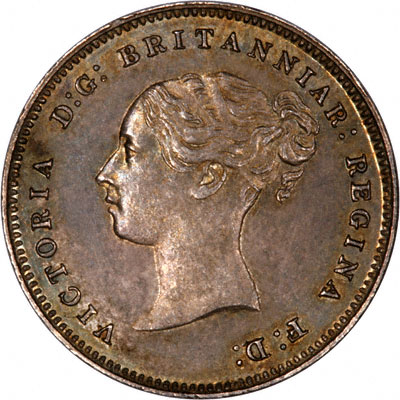 Obverse of 1881 Maundy Fourpence