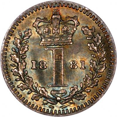 Reverse of 1881 Maundy Penny