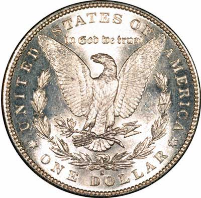 Reverse of US Morgan Silver Dollar 1881-S