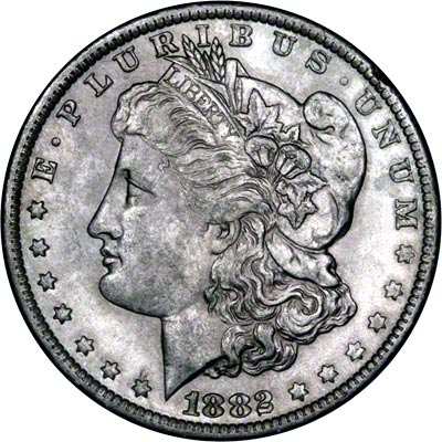 1882 American Silver Dollars Morgan Type