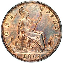 Britannia on a Young Head Bronze Penny of Victoria