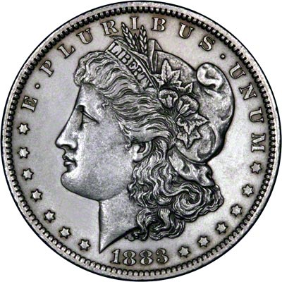 1883 American Silver Dollars Morgan Type