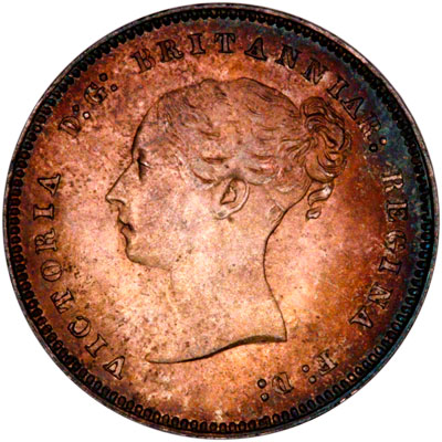 Obverse of 1884 Maundy Fourpence