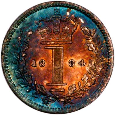 Reverse of 1884 Maundy Penny
