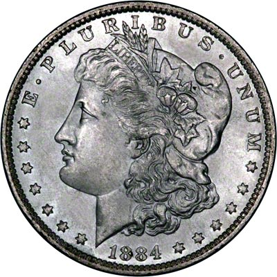 1884 American Silver Dollars Morgan Type