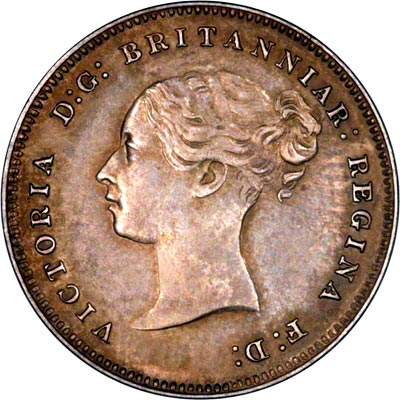 Obverse of 1885 Maundy Fourpence