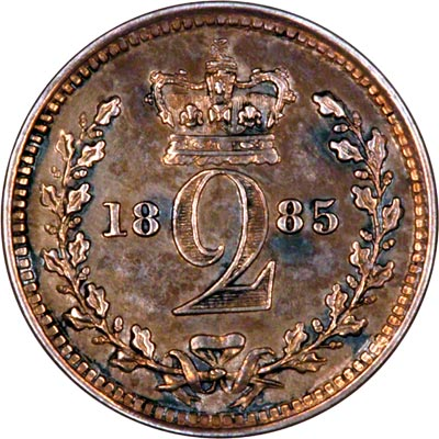 Reverse of 1885 Maundy Twopence