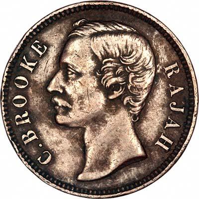 C. Brooke 'Rajah' on Obverse of 1885 Sarawak 1 Cent