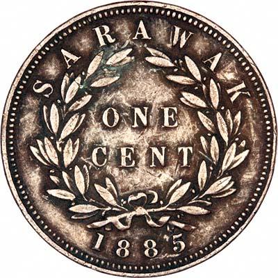 Reverse of 1885 Sarawak 1 Cent