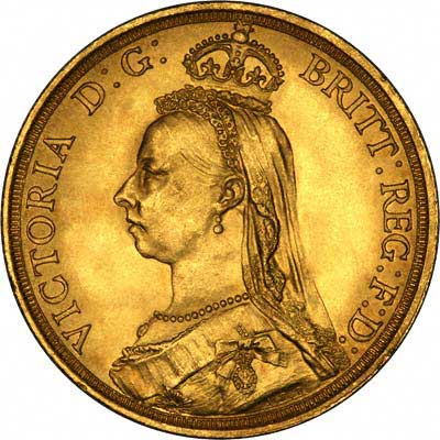 Victoria Jubilee £2 Gold Coin Obverse