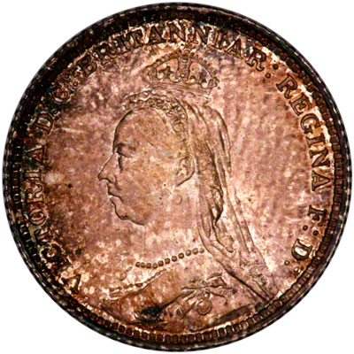 Obverse of 1888 British Guiana Fourpence