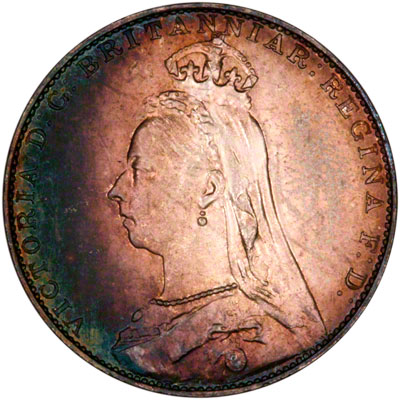 Obverse of 1888 Maundy Fourpence