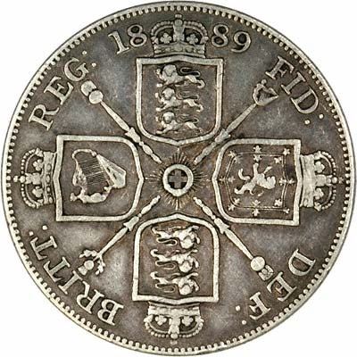 Victoria Double Florin in Very Fine Condition