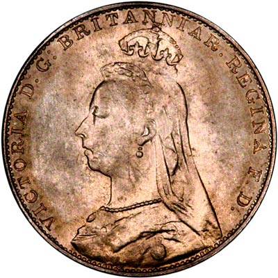 Obverse of 1889 Maundy Fourpence