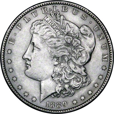 1889 American Silver Dollars Morgan Type