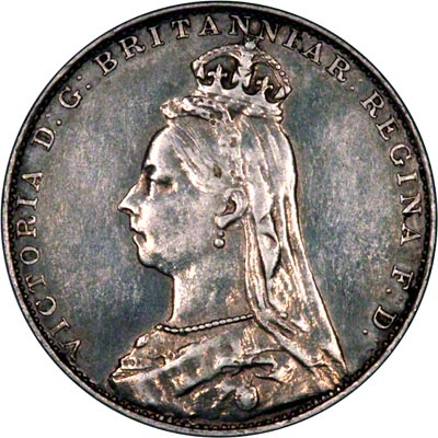 Obverse of 1891 Maundy Fourpence