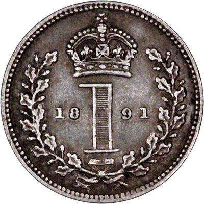 Reverse of 1891 Maundy Penny
