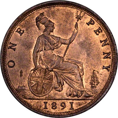 Reverse of 1891 Penny