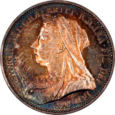 Obverse of 1893 Maundy Fourpence