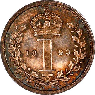 Reverse of 1893 Maundy Penny