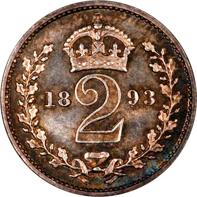 Reverse of 1893 Maundy Twopence