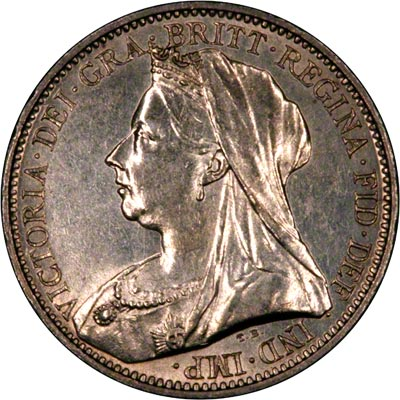 Obverse of 1894 Maundy Fourpence