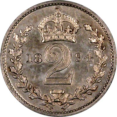 Reverse of 1894 Maundy Twopence