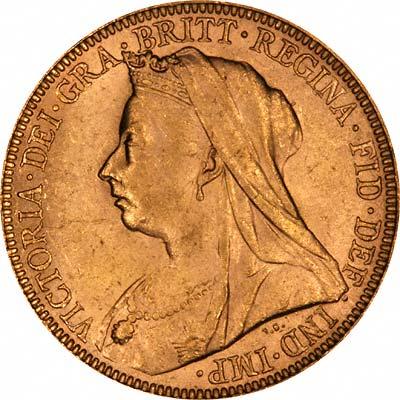 Victoria Sovereign Old Head Obverse