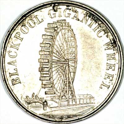 1896 Blackpool Big Wheel Medallion