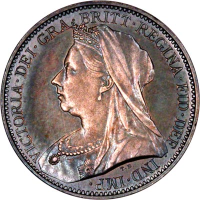 Obverse of 1897 Maundy Fourpence