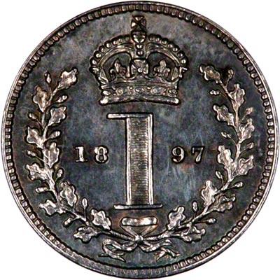 Reverse of 1897 Maundy Penny