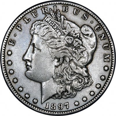 1897 American Silver Dollars Morgan Type