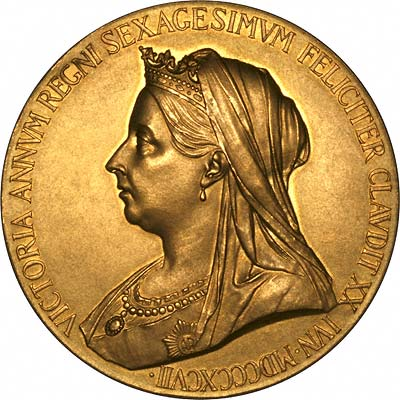 Obverse of 1897 Victoria Diamond Jubilee Gold Medallion