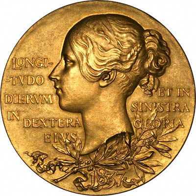 Reverse of 1897 Victoria Diamond Jubilee Gold Medallion