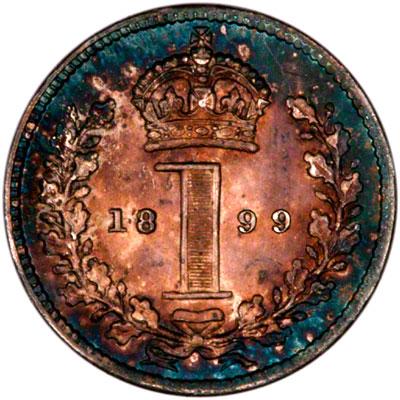 Reverse of 1899 Maundy Penny