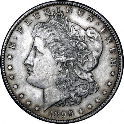 1899 American Silver Dollars Morgan Type