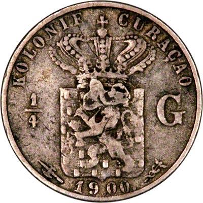 Reverse of 1900 Curaçao Quarter Gulden